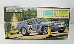 Aurora 1965 Cobra GT Coupe Unbuilt Plastic Car Model with Figures NOS
