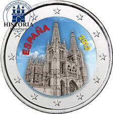 Spanien 2 Euro Gedenkmünze 2012 bfr. Kathedrale von Burgos in Farbe