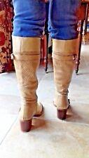 Ladies Italian knee high leather boots ESSENTIEL SIZE 40 FABULOUS block heel