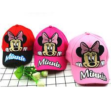 Kids Boys Girls Baseball Cap Sport Hip Hop Snapback Trucker Visor Sun Hat Minnie
