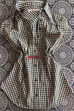 ♥ Miss Sixty - Damen - Bluse Shirt Top - Gr. S - weiß grün kariert - TOP ♥