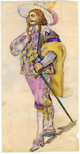 MUSKETEER- watercolor drawing by Unknown Russian artist