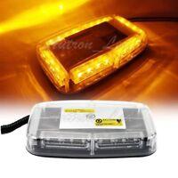 "11"" 24W 24 LED Emergency Beacon Strobe Lights Warning Mini Roof top Flash Amber"
