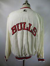 E9128 VTG 90s STARTER Chicago Bulls NBA Basketball Pullover Jacket Size L