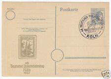 Ganzsache, Gemeinschaftssausgaben, P962, Zudruck, SSt: Köln, 20.9.47