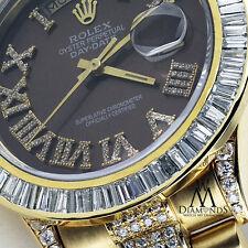 Men's Rolex President 18kt Yellow Gold Day Date Diamond Watch. Video inside