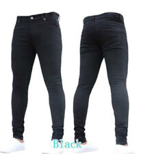 Men's Slim Fit Denim Pants Casual Long Straight Trousers Skinny Jeans Hot