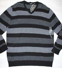 New Liz Claiborne Men's 100% Extra Fine Merino Wool V-Neck Sweater XXL
