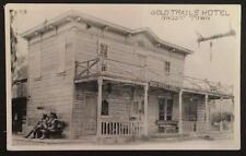 Gold Trails Hotel Ghost Town CA Real Photo Post Card