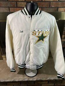 Vintage Dallas Stars NHL Hockey Snap Satin Varsity Letterman Jacket Mens Sz XL