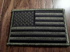 U.S MILITARY AMERICAN FLAG ARM PATCH SUBDUE OD GREEN