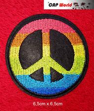 Peace Frieden PATCH Aufbügler Aufnäher Abzeichen Bügelbild Hippi 2