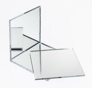 Acrylic Perspex Plastic Silver Mirror Sheet Tiles, A5, A4, A3