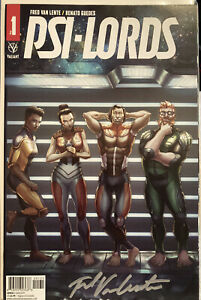 Hi $ Variant Comic Autographed By Fred Van Lente With COA Psi-lords #1 See Pics