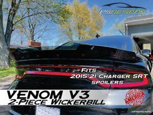 PSDesigns V3 2PC 15-21 Dodge Charger Venom V3 WickerBill Wickerbill Spoiler