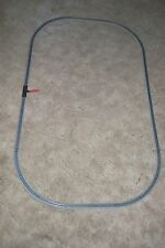 "(116)  N SCALE 33"" X 53"" OVAL EZ TRACK SETUP NEW, NICKEL SILVER RAILS,GRAY BED."