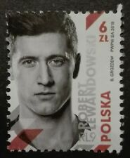 POLAND STAMPS MNH 1Fi4844 Mi4994 - Robert Lewandowski, 2018, **