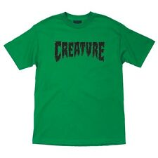 Creature Shredded Skateboard T Shirt Kelly Green Medium