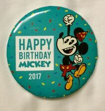 Disney Trading Pin Mickey Mouse Happy Birthday Cake W/ Candle & Party Hat Horn