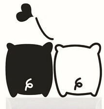 FD1261 Black White Piglet Lover Light Funny Wall Decal Vinyl Stickers DIY ~1pc