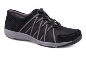 Dansko Honor Suede Black-Black Women's