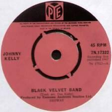 """JOHNNY KELLY ~ BLACK VELVET BAND / THE NIGHTINGALE ~ 1967 UK 7"""" SINGLE"""