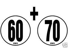 lot 2 Limitations de Vitesse Autocars Tracteur Poids lourd 60+70 KM/H adhésif