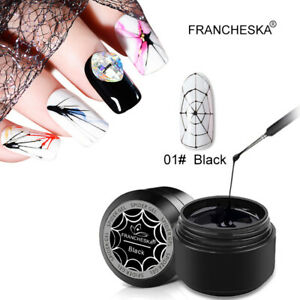 6 Colors 8ml Spider Gel Drawing Glue Soak Off UV LED DIY Manicure Nail Art
