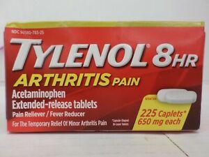 TYLENOL 8HR ARTHRITIS PAIN ACETAMINOPHEN EXTENDED-RELEASE 225 TABS 1/23 TT 3654