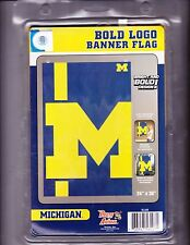 "Michigan Wolverines Bold Logo 24"" X 36"" Pole Flag/Banner"