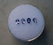 4 tanzanite oval loose faceted natural gems 4x3mm each