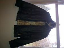 Black leather heavy rain coat from Jonathan Store worn once and unwanted gift
