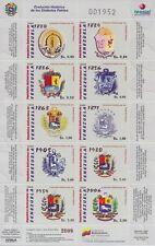 Venezuela 2009 - History of the Coat of Arms - Sc 1699/00 MNH