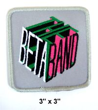 THE BETA BAND EMBROIDERED CUBE LOGO SQUARE PATCH - NEW