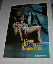 COUNT DRACULA AND HIS VAMPIRE BRIDE MOVIE POSTER CHRISTOPHER LEE PETER CUSHING