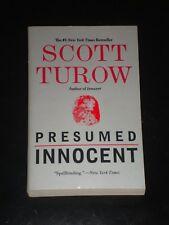 PRESUMED INNOCENT by Scott Turow (2010, Paperback) NOVEL BOOK MADE INTO MOVIE