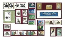 China Wildlife Stamps in Album 9 Sets Including Imperf Pair & 2 Mini Sheets MUH