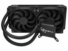 Rosewill CPU Liquid Cooler Closed Loop PC Water Cooling Two 120mm PWM Fans PB240