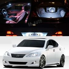 White SMD  LED Interior Lights Package Kit For Lexus Is250 Is350  2006-2013 9PCS