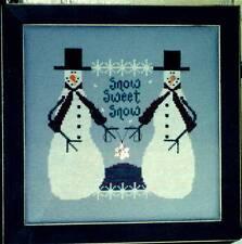Val's Stuff SNOW SWEET SNOW Cross Stitch Chart/Leaflet Only ~ season/snowman
