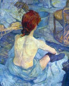Rousse the Toilet by Toulouse Lautrec Giclee Fine ArtPrint Repro on Canvas