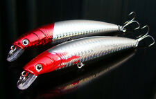 5pcs Red Head Fishing Fish Minnow Lure Hook Baits 12cm/14g