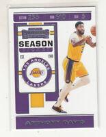 ANTHONY DAVIS 2019-20 Panini Contenders Season Ticket #7 Los Angeles Lakers Mint