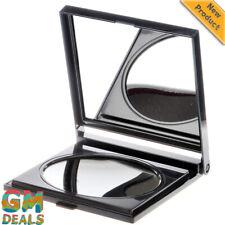 Danielle 17 x 14cm Folding Travel Mirror x 6 Magnified Black