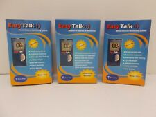 NEW SEALED 3 Easy Talk Blood Glucose Meter Monitoring System