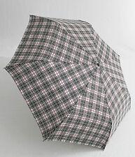 Happy Rain karierter Regenschirm Taschenschirm für Damen und Herren 42059