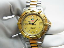 Tag Heuer Professional 2000 Gold Dial Men's Mid 37.5mm Swiss Watch 964.013F-2