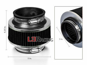 "3"" Inches 76mm Universal ByPass Valve BLACK Filter For Subaru Cold Air Intake"