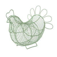 Eddingtons Chicken Egg Basket, Sage Green Storage Hen Traditional Holder