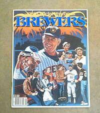 MILWAUKE BREWERS BASEBALL YEARBOOK - 1985 - NEAR MINT
